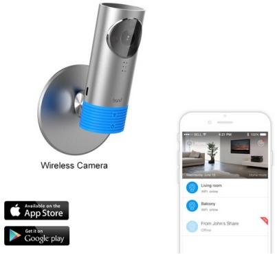 """Доступ к камере """"3G CleverDog"""" возможен со смартфона или планшета под управлением iOS/Android"""