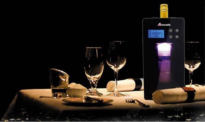 Компактный и стильный винный холодильник украсит праздничный стол