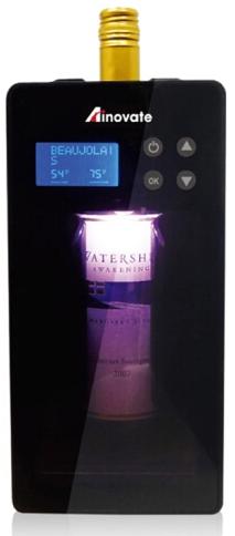 Дисплей и сенсорная панель управления расположены в верхней части дверцы винного холодильника