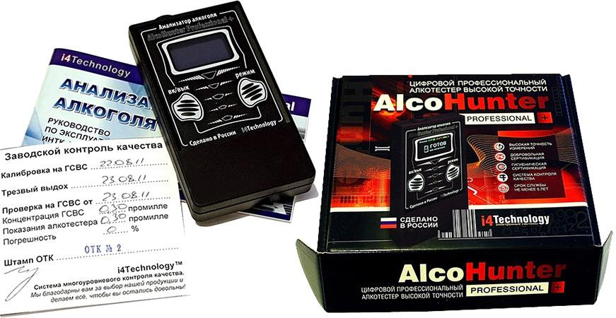 "Алкотестер ""AlcoHunter Professional+"": комплектация"