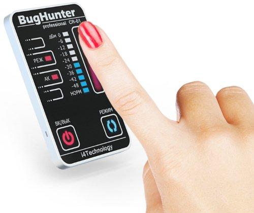 """TOUCH-панель и сенсорное управление обнаружителя жучков BugHunter CR-1 """"Карточка"""" являются его уникальными отличительными особенностями"""
