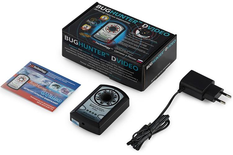 """Комплектация детектора скрытых видеокамер """"BugHunter Dvideo"""""""