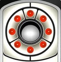 Расположение сверхярких излучателей вокруг объектива детектора