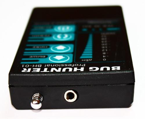 Расположение аудиоразъема для подключения наушников и внешней антенны