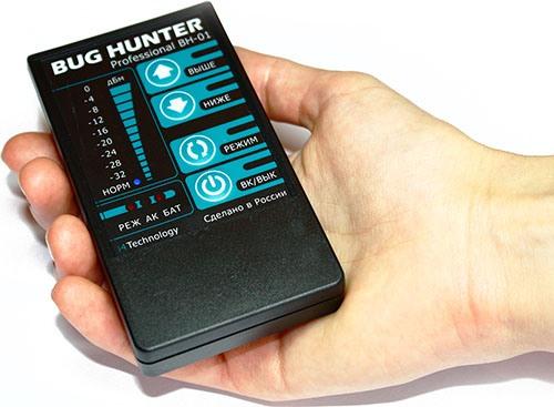 Перед вами компактный прибор отечественного производства, легко обнаруживающий практически любые виды жучков