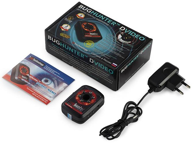 "Стандартная комплектация детектора скрытых видеокамер ""BugHunter Dvideo Nano"""