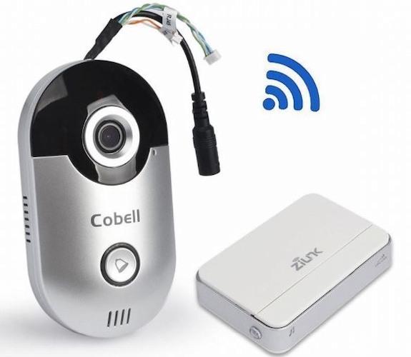 """Видеодомофон  """"Cobell"""" идет в комплекте с беспроводным звонком"""