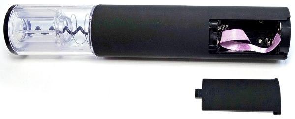 """На фото показан электроштопор """"SITITEK E-Wine P"""" с открытым отсеком для элементов питания"""