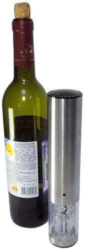 Заряда аккумулятора, установленного в данном электроштопоре, хватит для откупоривания до 30 бутылок