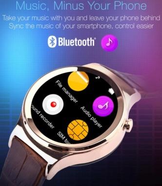 """Со смарт-часами """"Ewik W6"""" Вы сможете слушать музыку независимо от Вашего смартфона"""