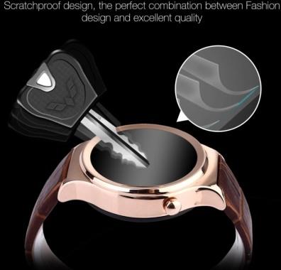 """Смарт-часы """"Ewik W6"""" имеют корпус из нержавеющей стали и прочное стекло, устойчивое к царапинам"""