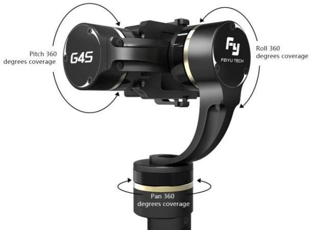 Камера может свободно вращаться, не задевая стабилизатор