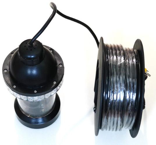 Видеокамера для рыбалки FishCam-360 укомплектована кабелем на 20 метров