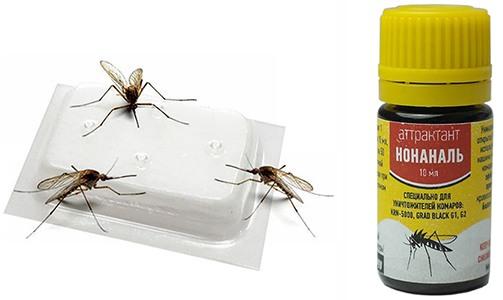 Аттрактанты, используемые в уничтожителе комаров