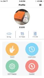 Для анализа результатов измерений, их отображения и ведения статистики разработано информативное приложение