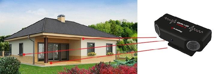 Оптимальные варианты размещения отпугивателя (при установке под крышей устройство следует размещать под углом 35-45°)