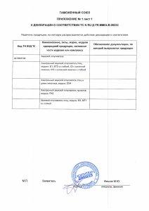 Декларация о соответствии электронного отпугивателя птиц Е3 требованиям ЕАС