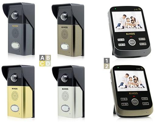 Доступные варианты цветового оформления блоков беспроводного видеодомофона KIVOS 303 (пожалуйста, уточняйте наличие конкретного цвета при оформлении заказа)