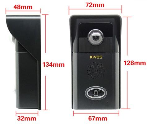 Внешний блок видеодомофона имеет достаточно компактные размеры, что позволяет легко установить его практически где угодно