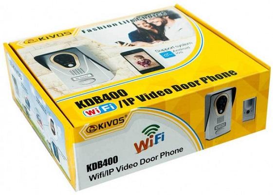 Фирменная картонная упаковка видеодомофона KIVOS 400