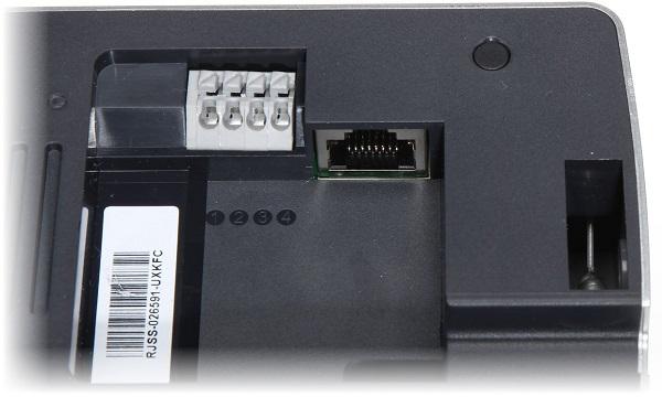 Разъем для подключения Ethernet-кабеля расположен внутри корпуса основного блока рядом с коннектором для шнура питания (нажмите на фото для увеличения)