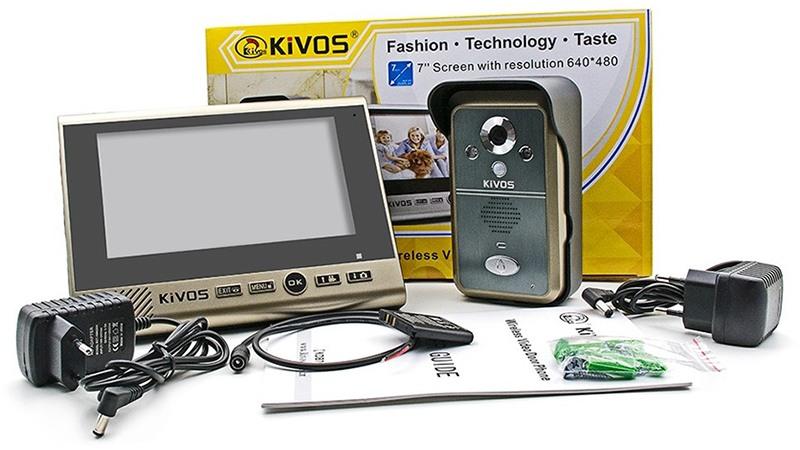 Видеодомофон поставляется в фирменной картонной коробке в комплекте со всеми необходимыми аксессуарами