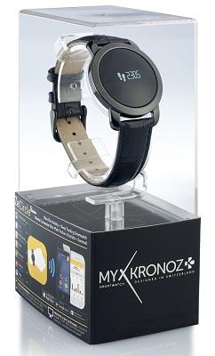 Смарт-часы MyKronoz ZeCircle Premium поставляются в фирменной прозрачной коробке, которая может выполнять функцию подарочной упаковки (нажмите на фото для увеличения)