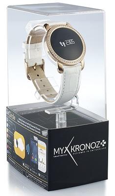 Смарт-часы MyKronoz ZeCircle Swarovski поставляются в фирменной прозрачной коробке, которая может выполнять функцию подарочной упаковки (нажмите на фото для увеличения)