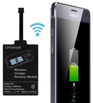 С этим мини-адаптером поддержку стандарта беспроводной передачи энергии Qi может получить любой смартфон на базе ОС Android!