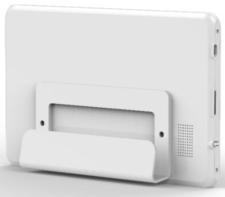 Основной блок сигнализации оснащен подставкой, позволяющей установить его на любой горизонтальной поверхности
