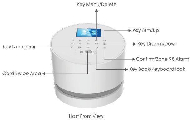 Встроенная в центральный блок клавиатура обеспечивает быстрый доступ к основным функциям