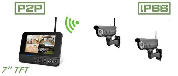 Благодаря наличию камер с повышенной защитой данный видеокомплект подходит для ведения видеонаблюдения практически при любых погодных условиях