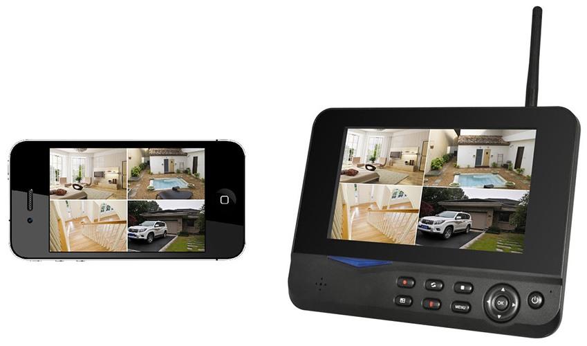 Благодаря фирменному мобильному приложению вы можете получать картинку со всех камер непосредственно на ваш смартфон (нажмите на фото для увеличения)
