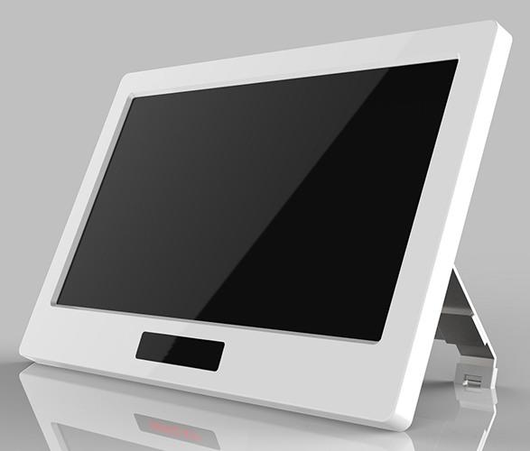 Центральный блок системы похож на современный планшет и имеет специальную подставку для комфортного просмотра видеосигнала (нажмите на фото для увеличения)