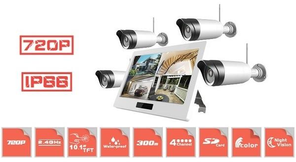 Данный комплект включает в себя полный набор беспроводных камер — ничего не нужно докупать!