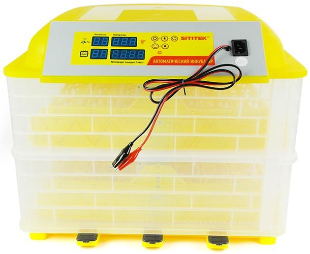 Выводной инкубатор на 96 куриных яиц с термометром, влагомером и автоматическим переворотом SITITEK 96