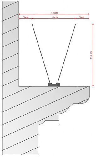 Основные размеры антиприсадных шипов