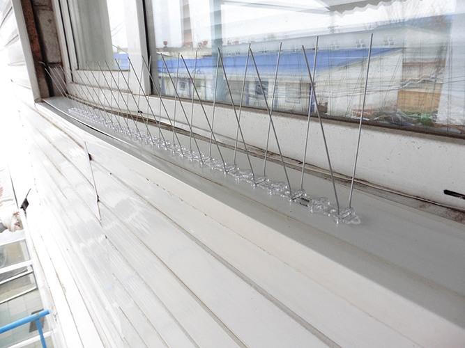 """Шипы модели """"SITITEK Барьер-Премиум 2"""" на карнизе окна: вид 1"""