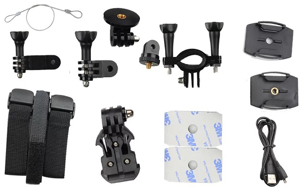 Все аксессуары, входящие в комплект поставки камеры SITITEK Cube 360 (нажмите на фото для увеличения)