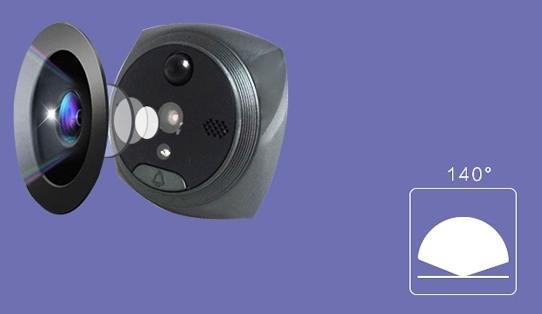 Видеокамера вызывной панели имеет угол обзора 140 градусов