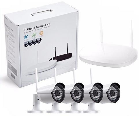 Расширенный комплект с четырьмя камерами в базовой комплектации позволяет вести наблюдение за любым объектом с четырех разных точек (дизайн упаковки может быть изменен)