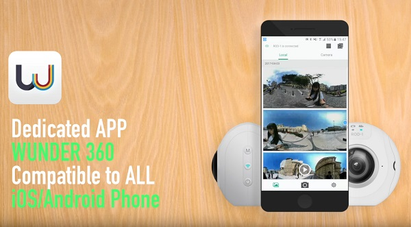 Фирменное приложение, поддерживающее практически все современные смартфоны и планшеты, позволяет напрямую транслировать панорамное видео с камеры в интернет!
