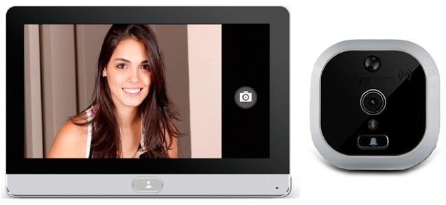 Видеоглазок SITITEK R22 традиционно состоит из двух модулей: внешнего с камерой и внутреннего с дисплеем