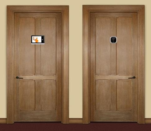 Так выглядит видеоглазок SITITEK R22A, вмонтированный в дверь