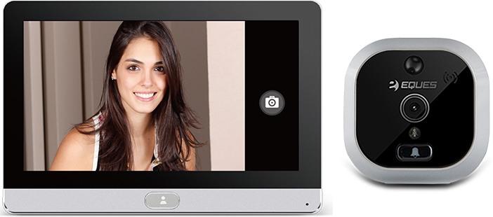 Видеоглазок SITITEK R22A традиционно состоит из двух модулей: внешнего с камерой и внутреннего с дисплеем