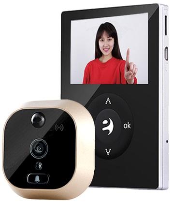 Видеоглазок SITITEK А21 отличается компактностью при наличии полного набора всех необходимых подобному устройству функций