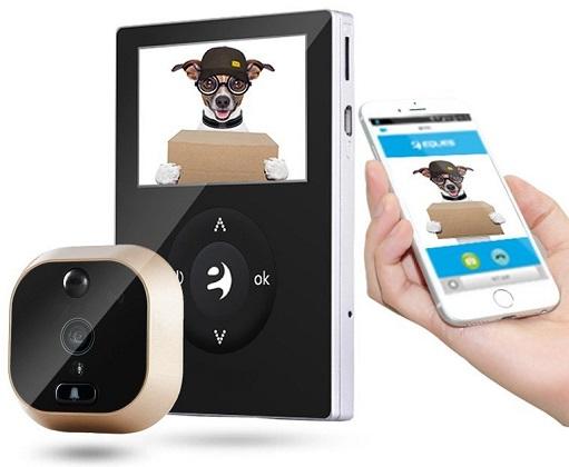 Фирменное мобильное приложение позволяет получать видеосигнал с камеры глазка на смартфон, а при необходимости — еще и переговорить с посетителем за дверью
