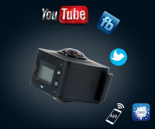 Ваши видеоролики и прямые онлайн-трансляции с обзором 360° смогут смотреть пользователи всех наиболее популярных социальных сетей!