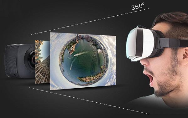 Камера умеет снимать VR-видео, для просмотра которого подойдут любые очки виртуальной реальности