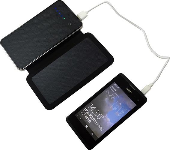 Устройство отлично подходит для подзарядки практически любых мобильных гаджетов (нажмите на фото для увеличения)